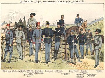 C.k. piechota galicyjska i bośniacka, rok 1898