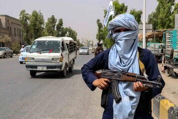 Członek talibańskiego patrolu w Afganistanie. Zdjęcie ilustracyjne