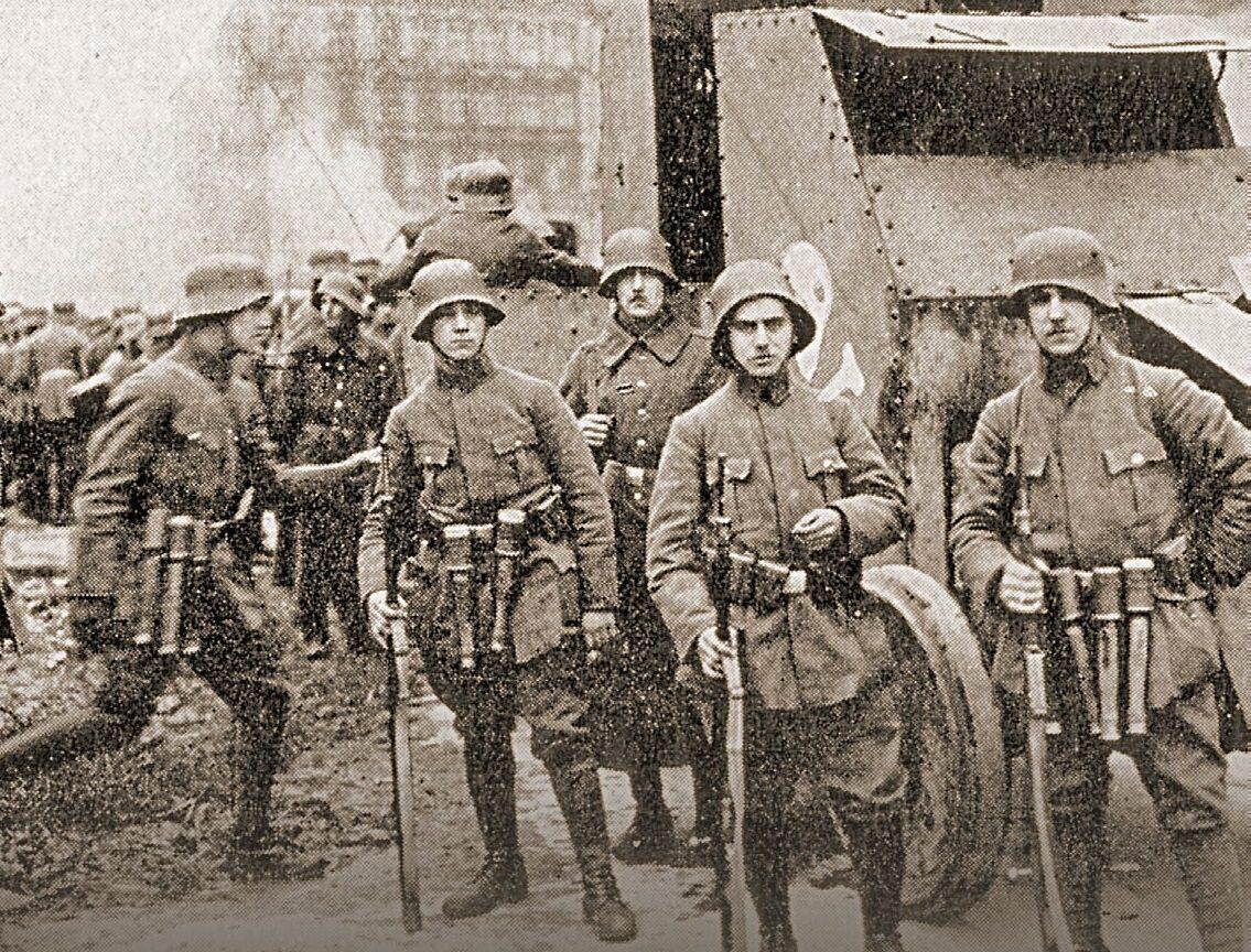 Członkowie Freikorpsu.