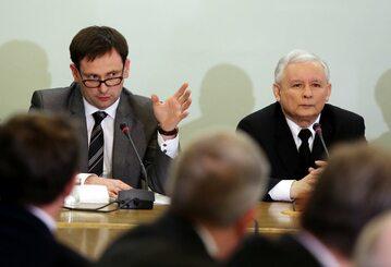 Daniel Obajtek i Jarosław Kaczyński
