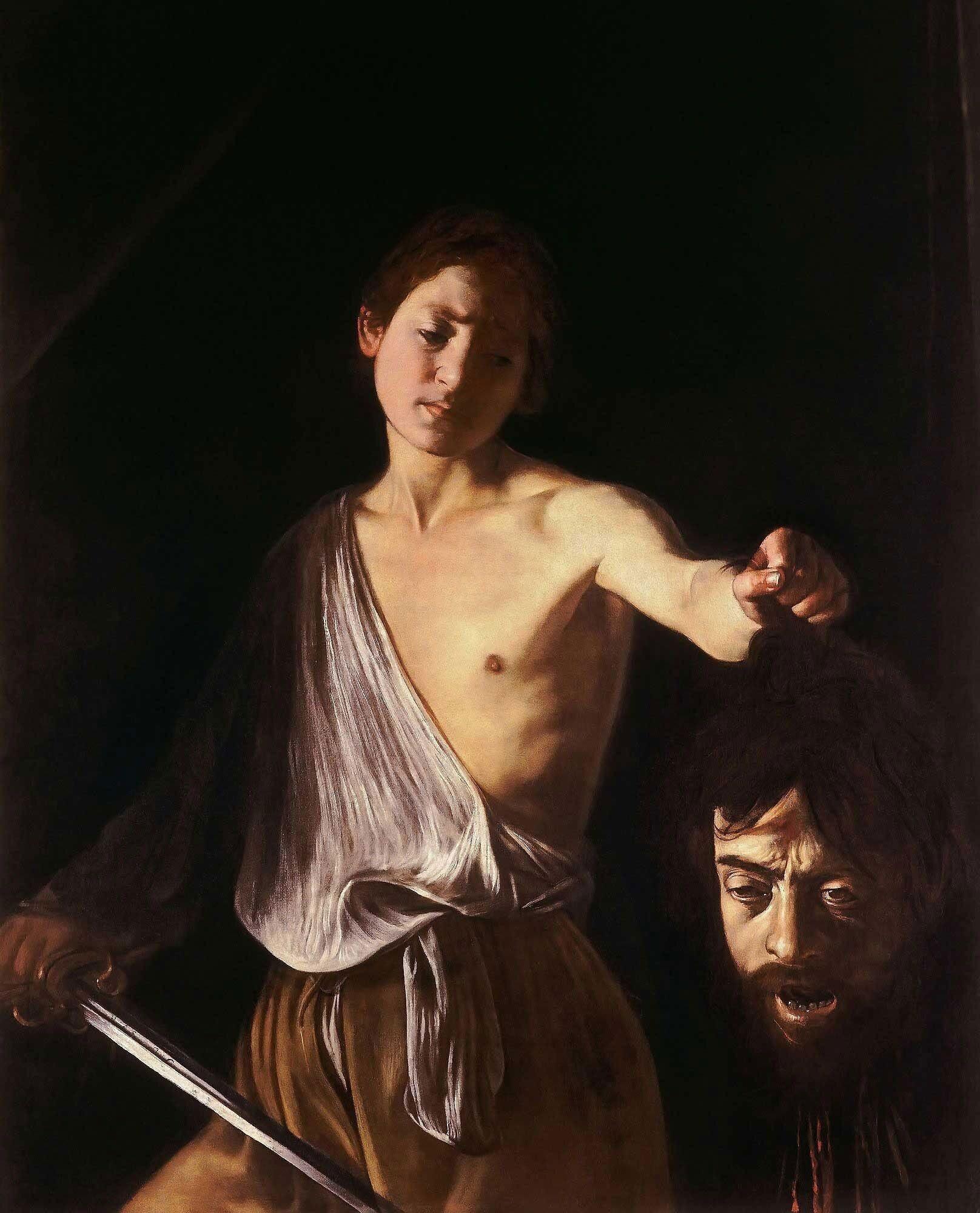 Dawid z głową Goliata