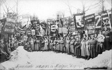 Demonstracja bolszewicka, 1917 rok.