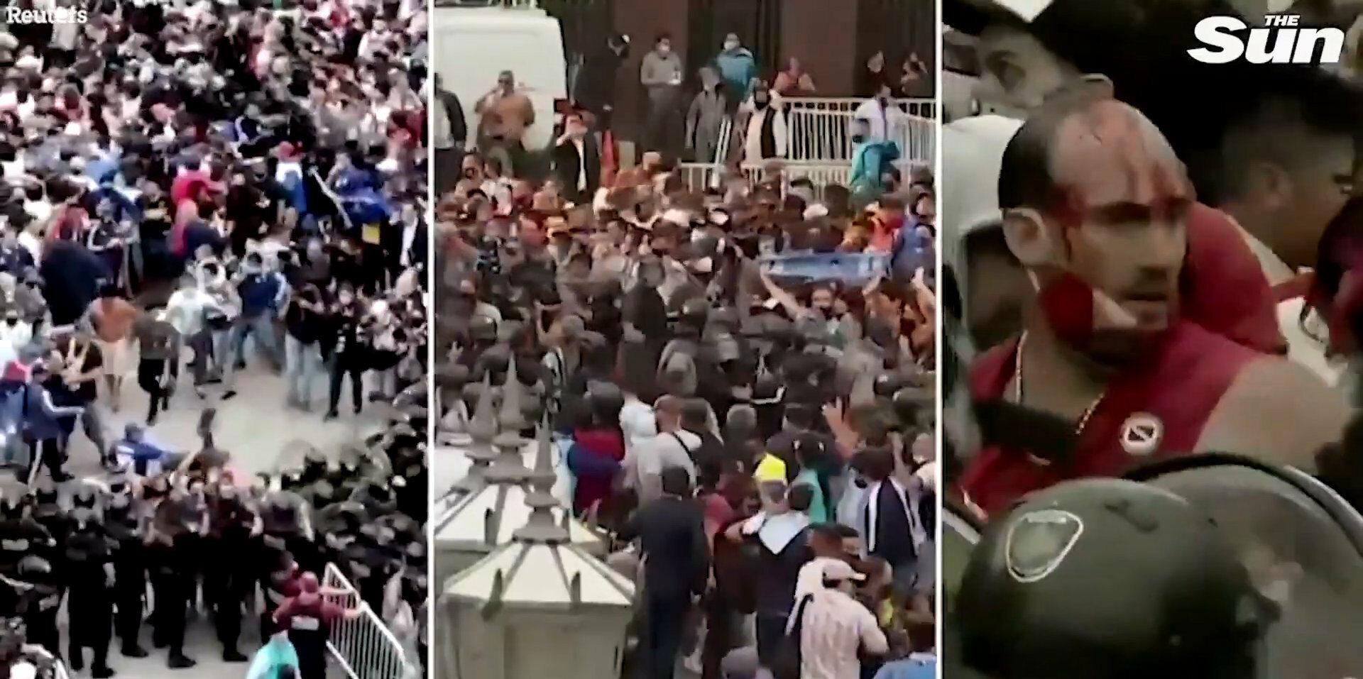 Do zamieszek doszło podczas uroczystości pogrzebowych sławnego piłkarza