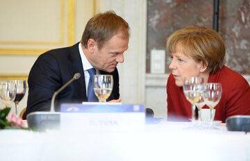 Donald Tusk, Angela Merkel