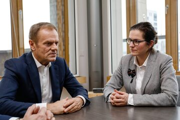 Donald Tusk i Aleksandra Dulkiewicz