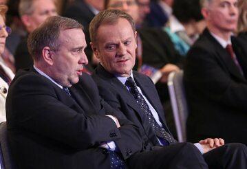 Donald Tusk i Grzegorz Schetyna