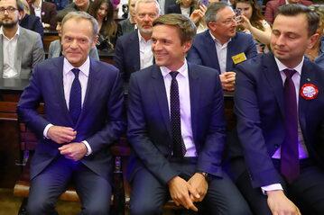 Donald Tusk, Leszek Jażdżewski i Władysław Kosiniak-Kamysz