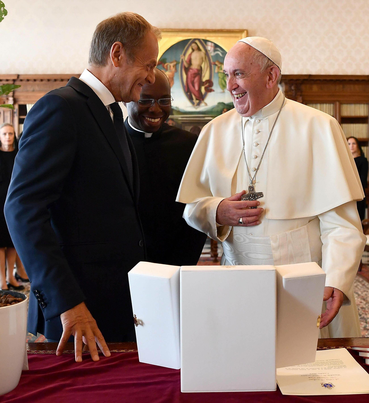 Donald Tusk na audiencji u papieża Franciszka
