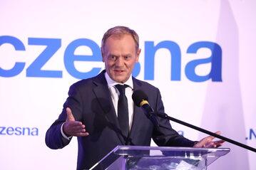Donald Tusk na konwencji Rady Krajowej Nowoczesnej. Warszawa, 23.07.2021.