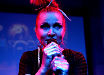 Dorota Masłowska, pisarka i wokalistka grupy Mister D.
