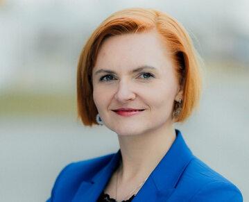 Dr hab. inż. Agnieszka Gryszczyńska z Katedry Prawa Informatycznego na Wydziale Prawa i Administracji UKSW w Warszawie
