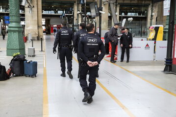 Dworzec Gare du Nord w Paryżu