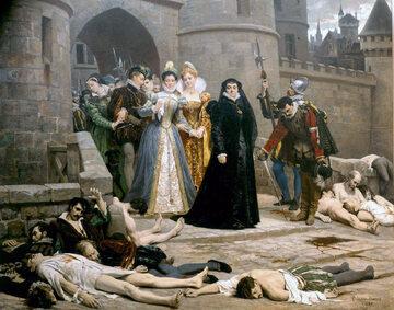 Édouard Debat-Ponsan, Katarzyna Medycejska opuszcza Luwr (po nocy św. Bartłomieja)