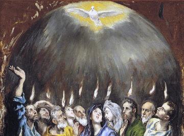 """El Greco, fragment obrazu """"Pięćdziesiątnica"""""""