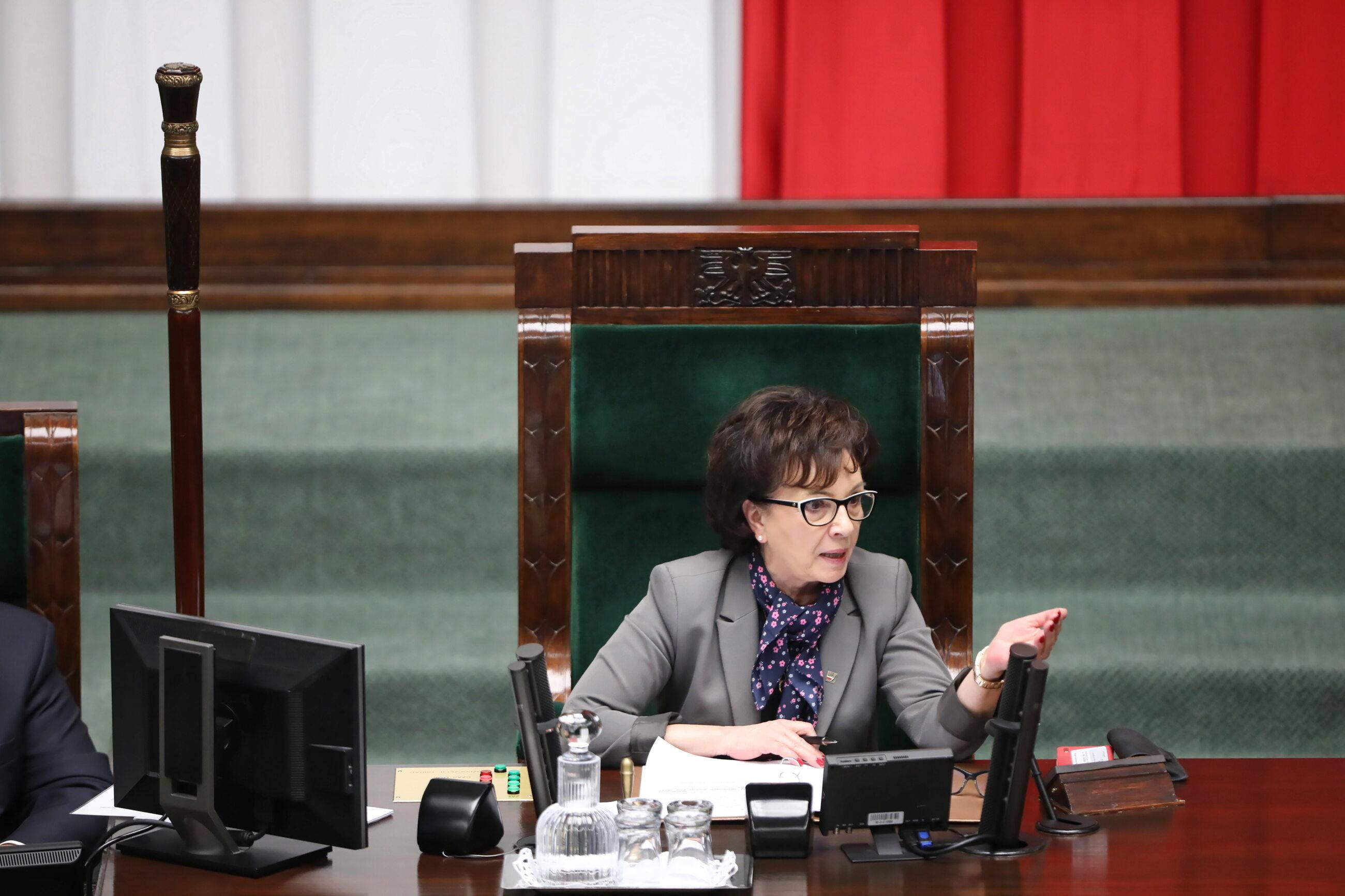 Elżbieta Witek, marszałek Sejmu