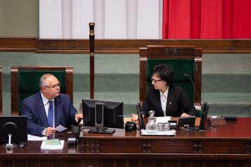 Elżbieta Witek podczas obrad Sejmu