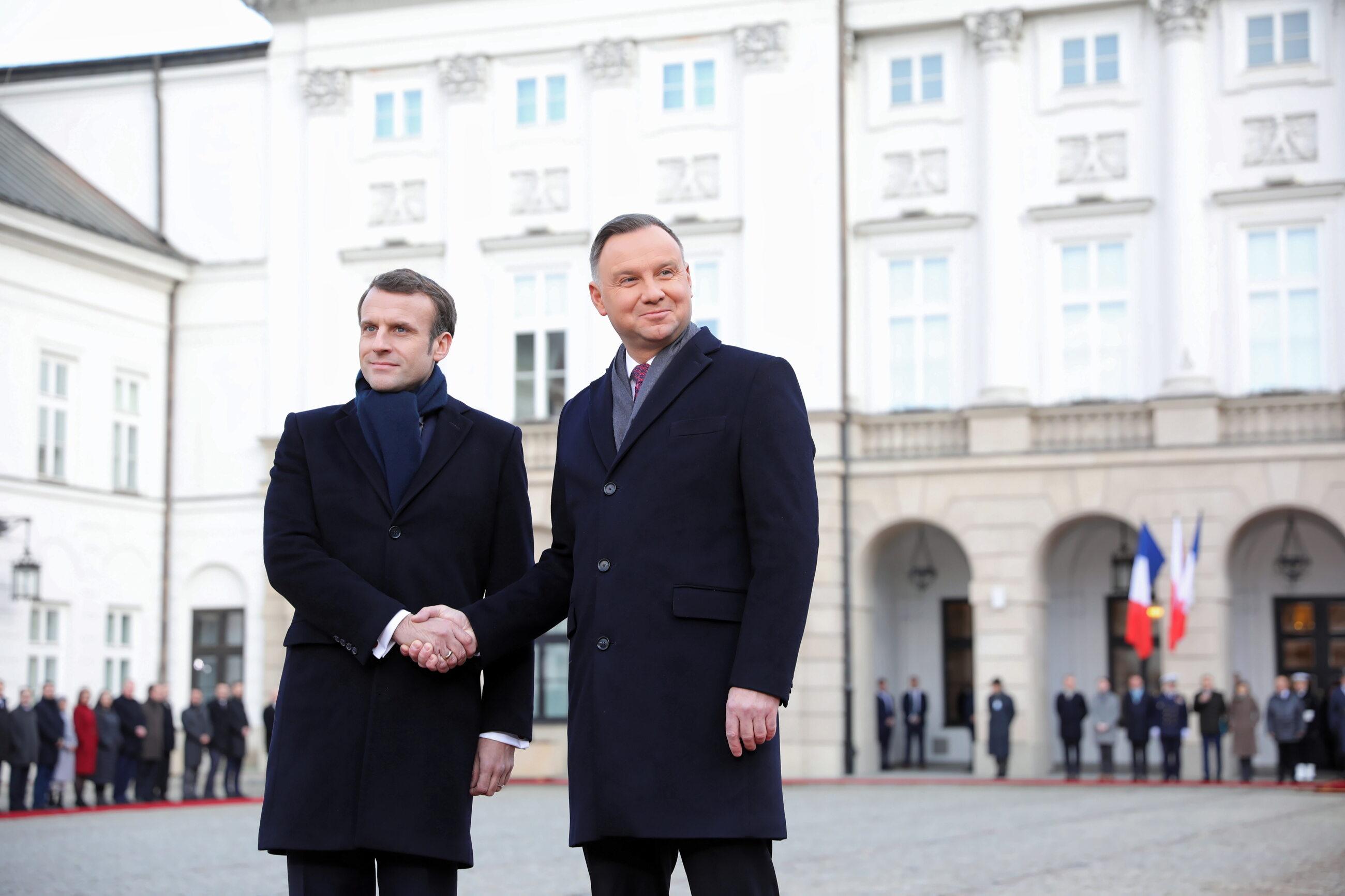 Emmanuel Macron z wizytą w Polsce