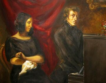 """Eugène Delacroix, """"George Sand i Fryderyk Chopin"""""""