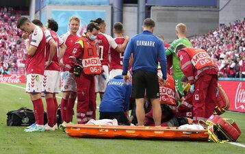 Euro 2020. Christian Eriksen reanimowany podczas meczu
