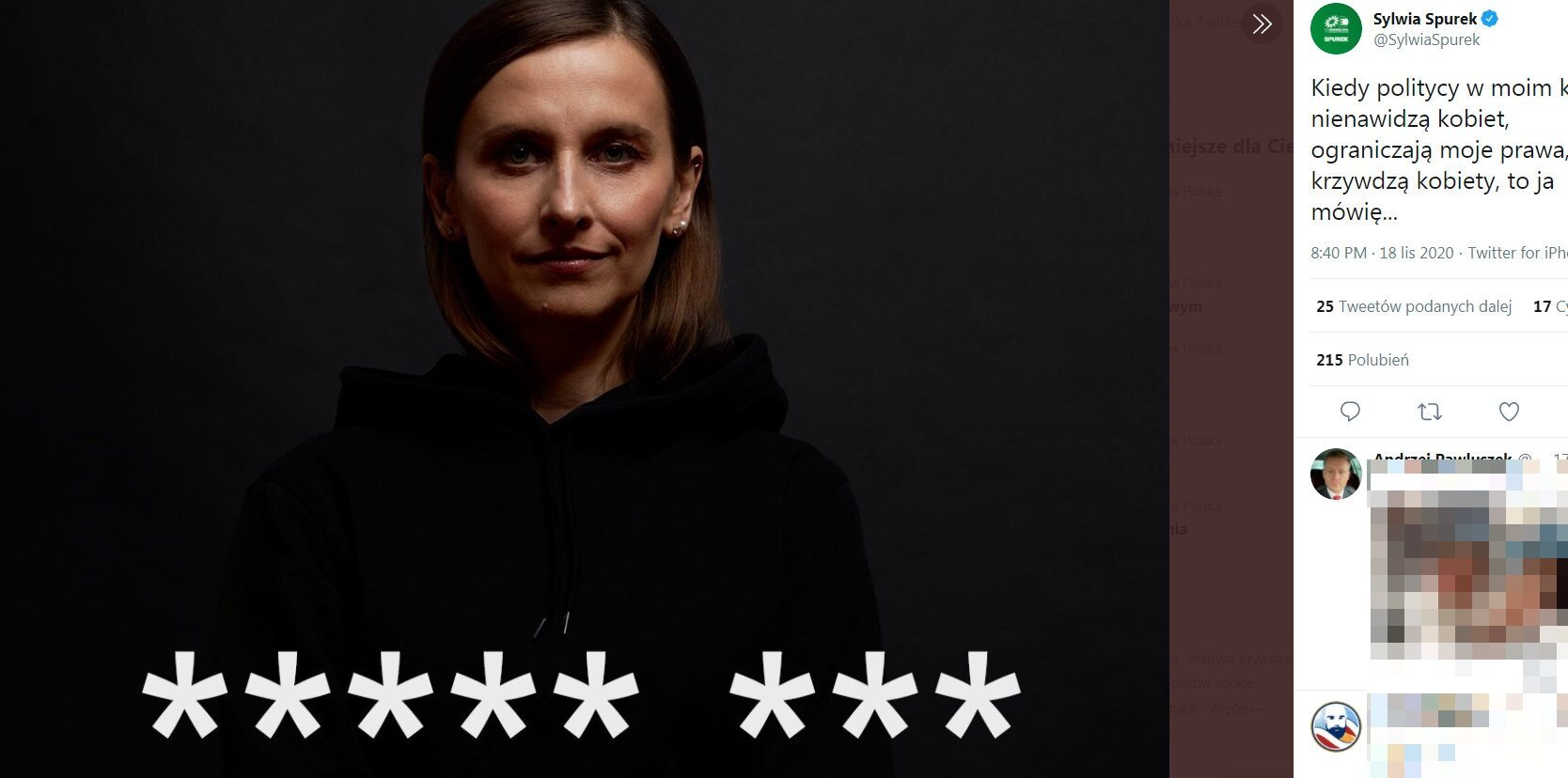Europosłanka Sylwia Spurek zabrała głos w sprawie trwających w Polsce protestów. Polityk nie użyła jednak merytorycznych argumentów, tylko wulgaryzmów.