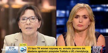 Ewa Kopacz i Monika Olejnik