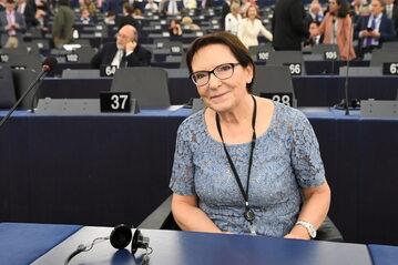 Ewa Kopacz w Parlamencie Europejskim