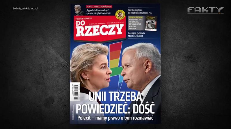 """""""Fakty"""" TVN o najnowszej okładce """"Do Rzeczy"""""""