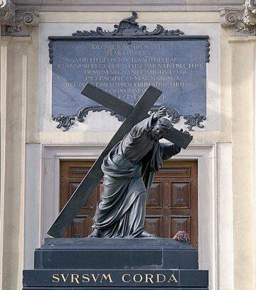 Figura Chrystusa na Krakowskim Przedmieściu w Warszawie