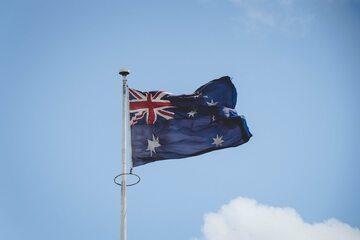 Flaga Australii. Zdjęcie ilustracyjne