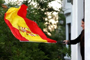 Flaga Hiszpanii, zdjęcie ilustracyjne