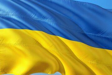Flaga Ukrainy, zdjęcie ilustracyjne