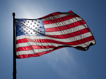 Flaga USA, zdjęcie ilustracyjne
