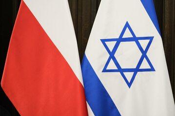 Flagi Polski i Izraela, zdjęcie ilustracyjne