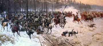 """Fragment obrazu """"Bitwa pod Stoczkiem 1831"""" Jana Rosena"""