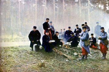 Francuzi w czasie bitwy nad Marną, 1914 rok