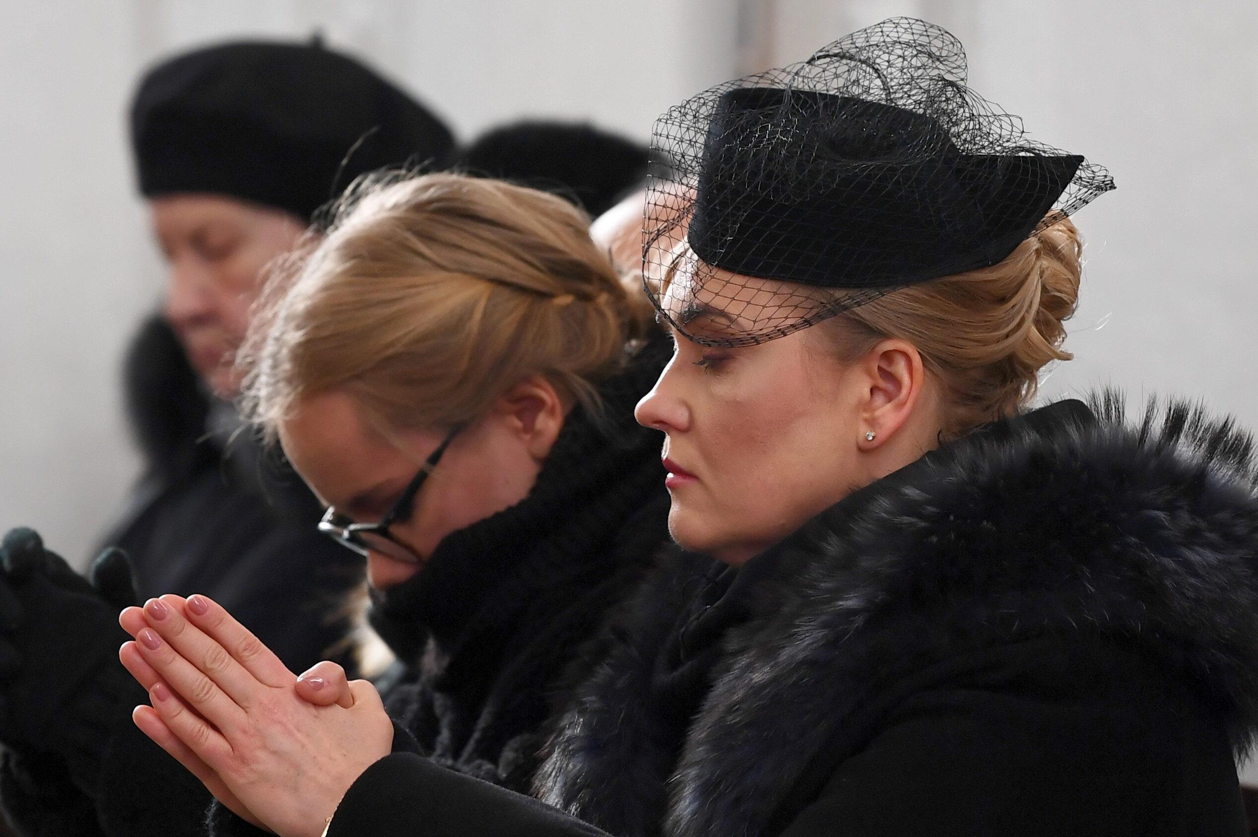 Gdańsk. Żona zmarłego Magdalena Adamowicz  i córka Antonina Adamowicz