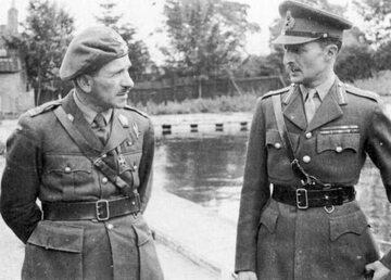 Gen. Stanisław Sosabowski (z lewej) i gen. Frederick Browning