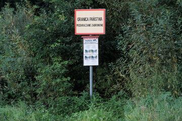 Granica państwa w pobliżu miejscowości Usnarz Górny k. Krynek
