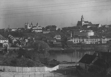 Grodno. Widok ogólny miasta i rzeki Niemen. 1931 r.