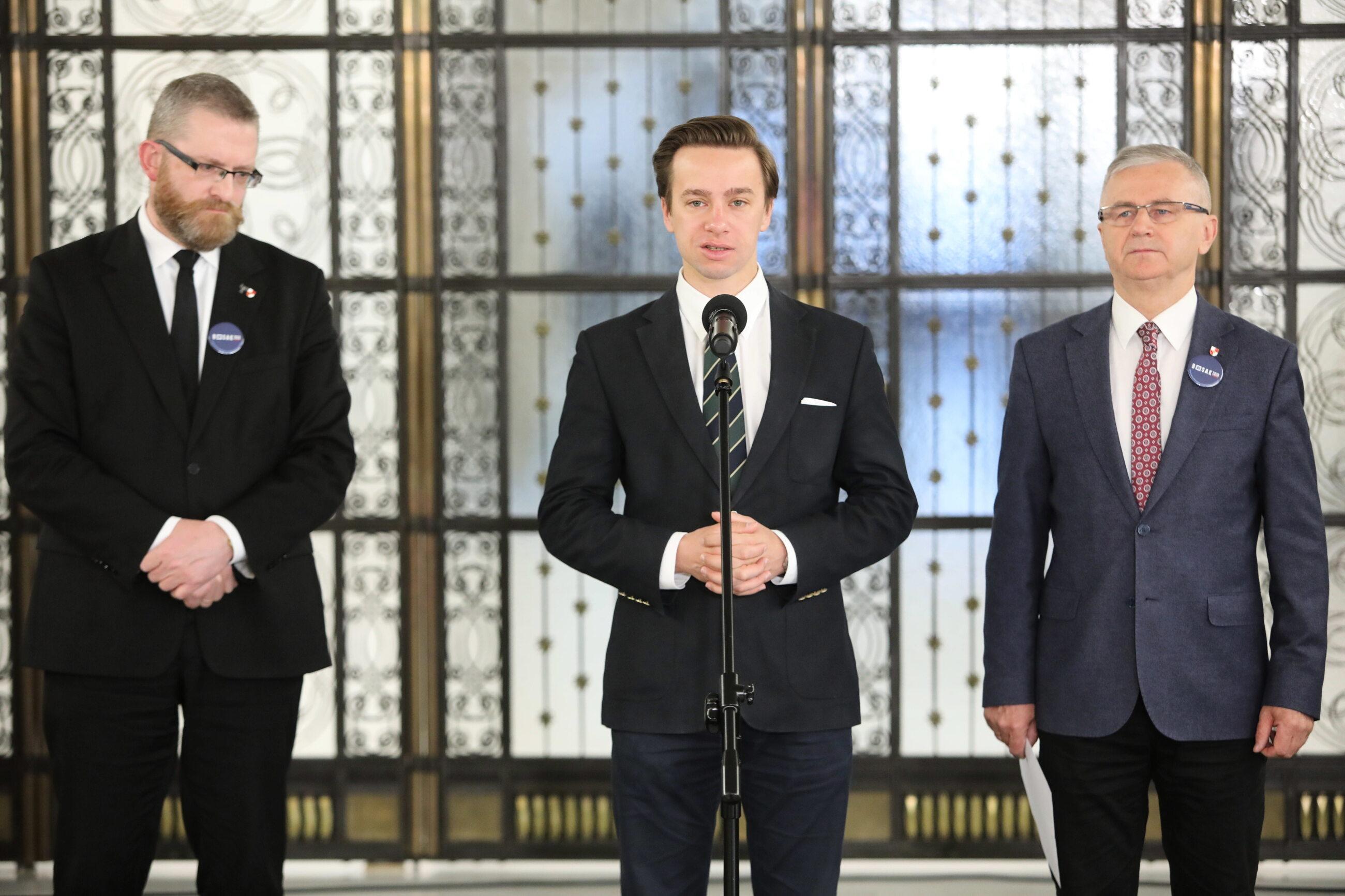 Grzegorz Braun, Krzysztof Bosak, Włodzimierz Skalik
