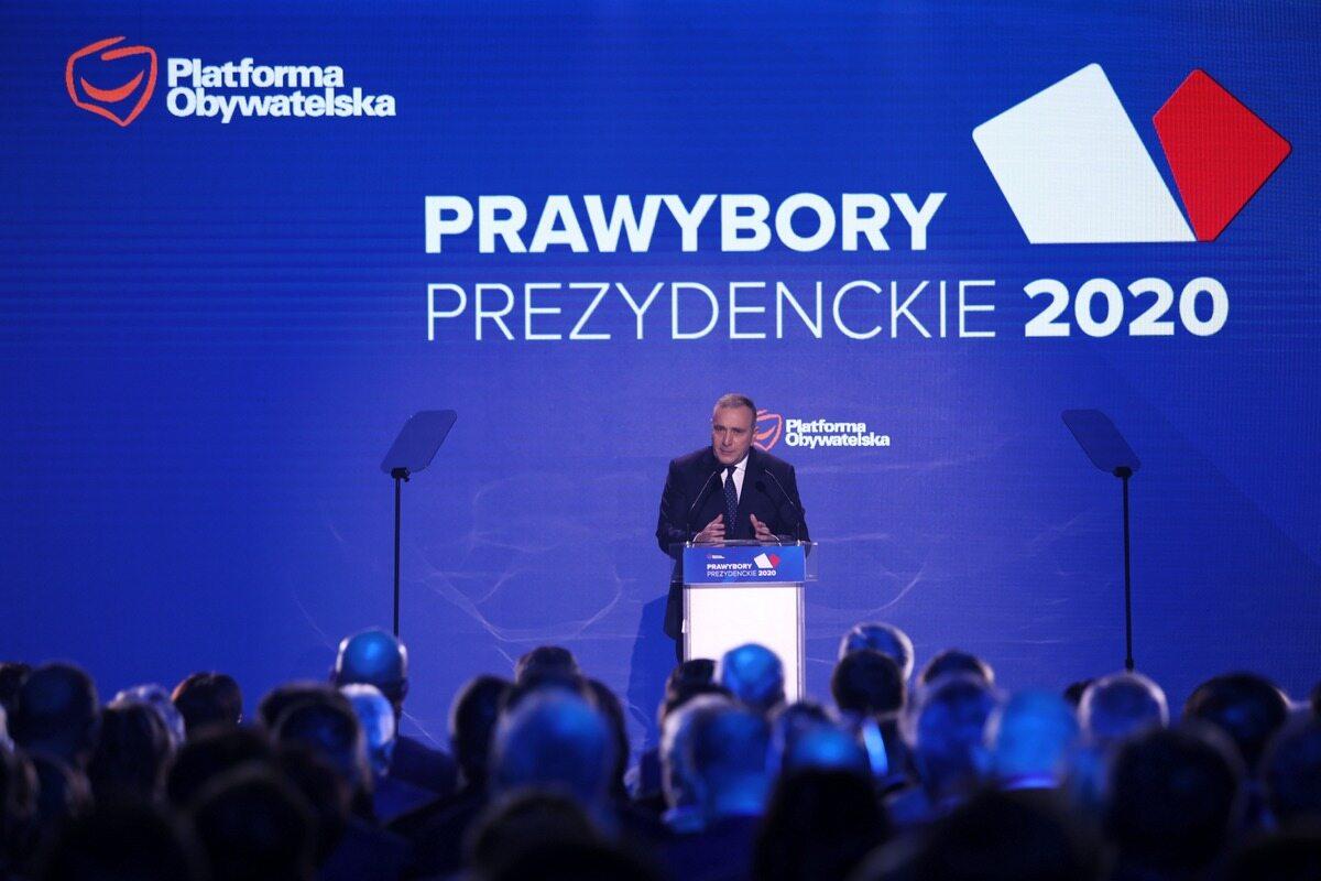 Grzegorz Schetyna na konwencji PO