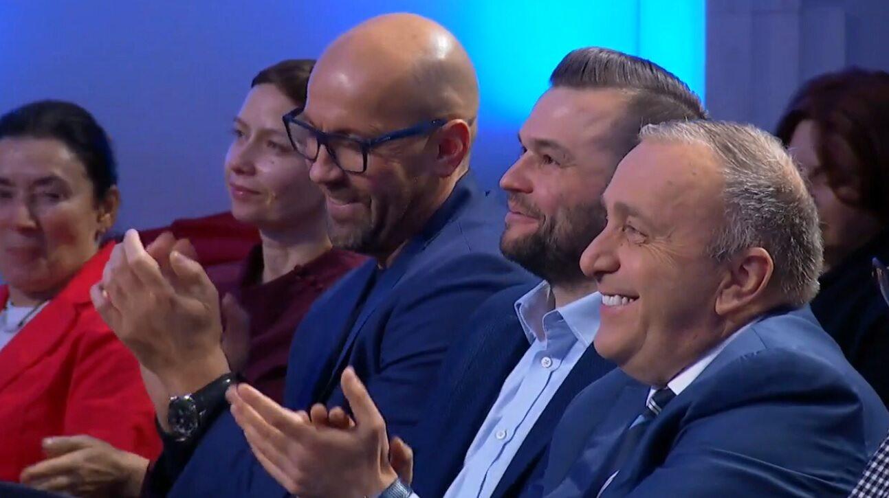 Grzegorz Schetyna podczas debaty PO