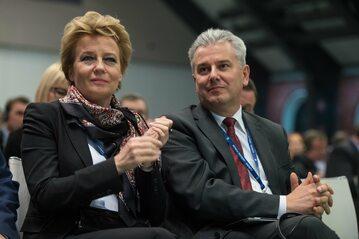 Hanna Zdanowska i Cezary Grabarczyk