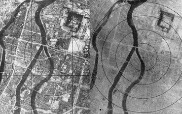 Hiroszima przed i po zrzuceniu bomby atomowej
