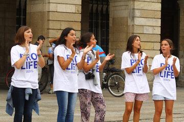 Hiszpańskie działaczki pro-life, zdjęcie ilustracyjne