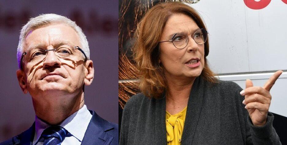 Jacek Jaśkowiak i Małgorzata Kidawa-Błońska