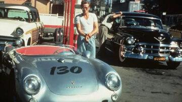 James Dean przy swoim Porsche 550
