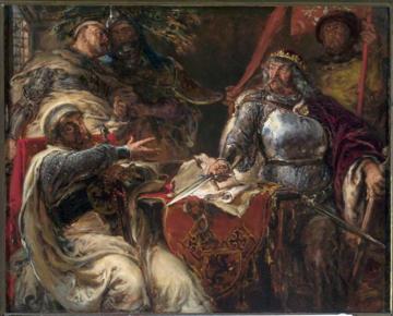 Jan Matejko, Łokietek zrywa układy z Krzyżakami w Brześciu Kujawskim
