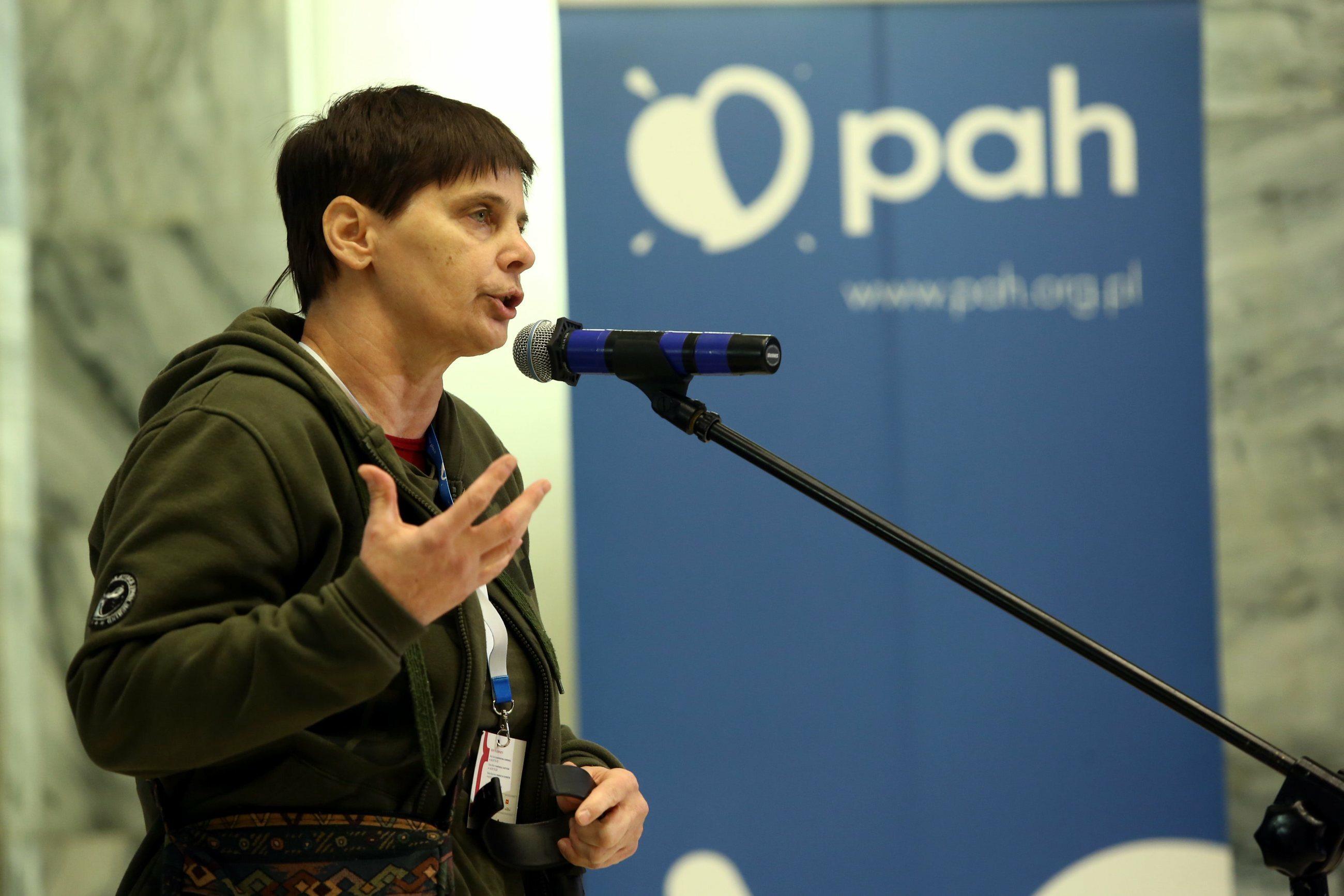 Janina Ochojska, szefowa PAH