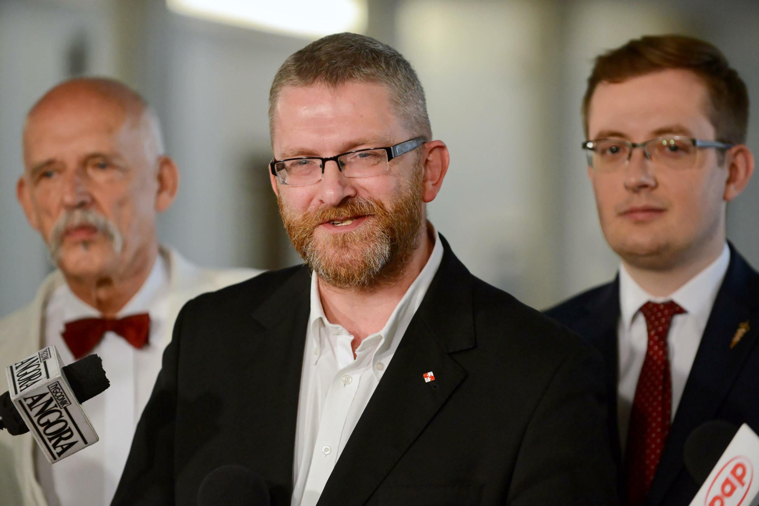 Janusz Korwin-Mikke, Grzegorz Braun, Robert Winnicki
